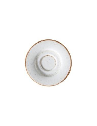 Plato café Artisan blanco 13 cms.