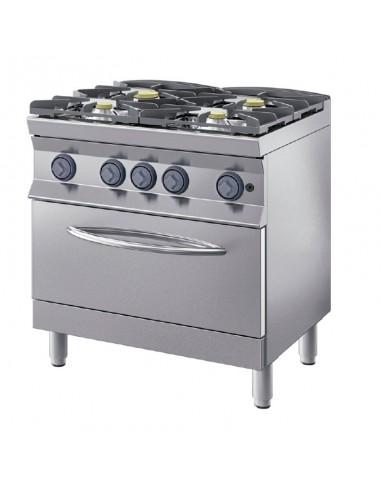 Cocina gas 4qq Linea 900+ con Horno